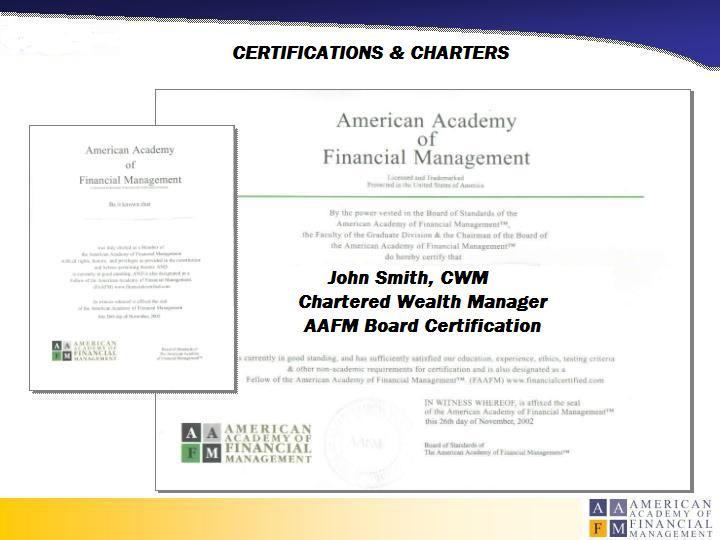 Certified Wealth Manager Financial Management Board Certified ...
